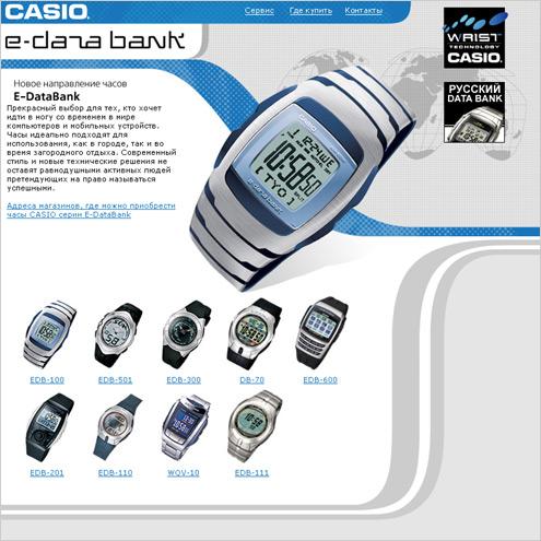 Casio e-data bank